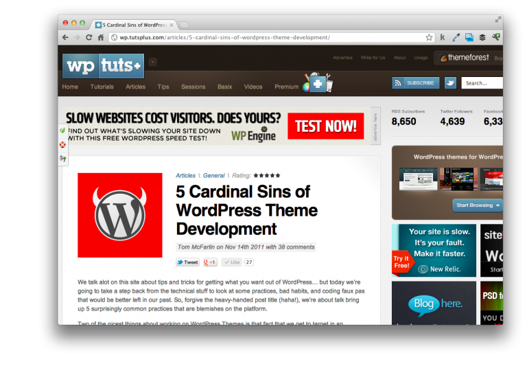 Cardinal Sins of WordPress Development