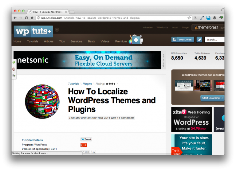 Localize WordPress Themes and Plugins