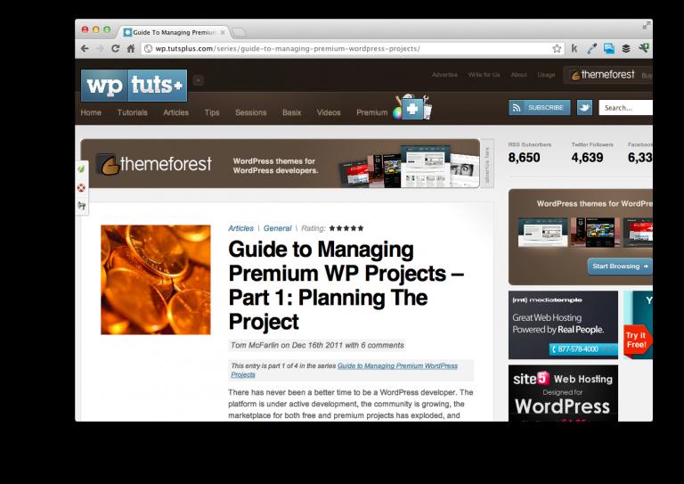 Managing Premium WordPress Projects
