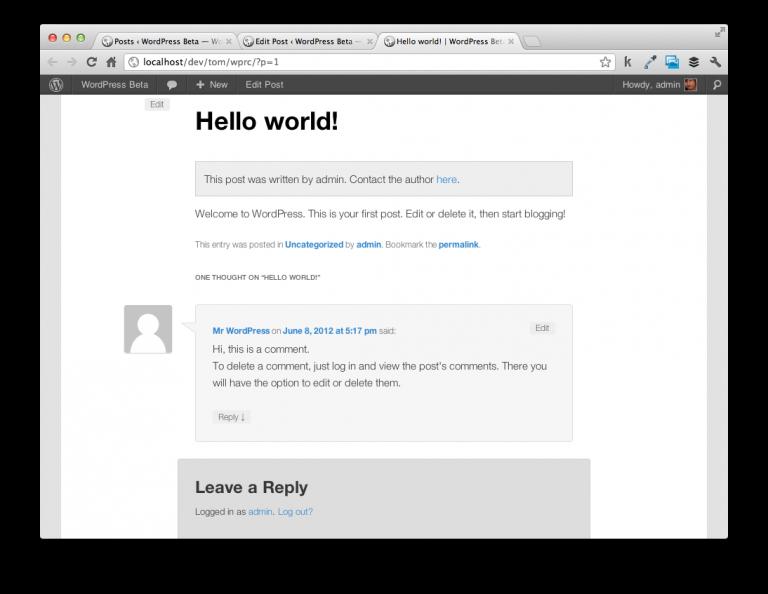 WordPress Ajax API Example