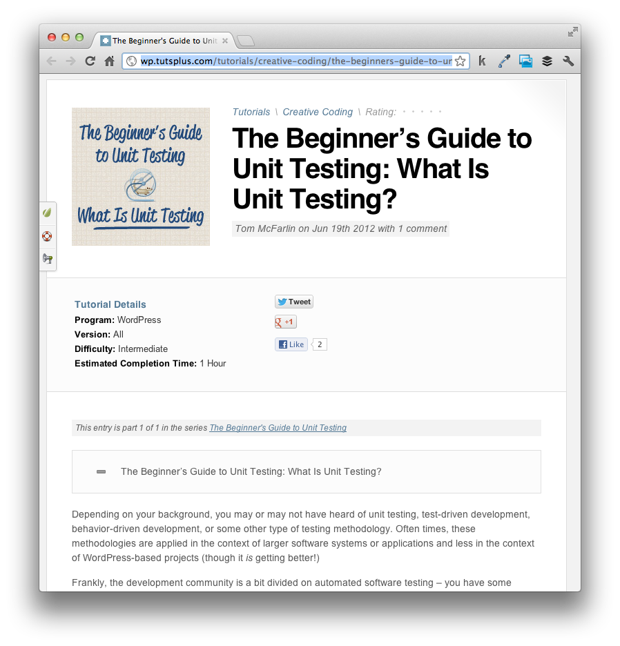 WordPress Unit Testing