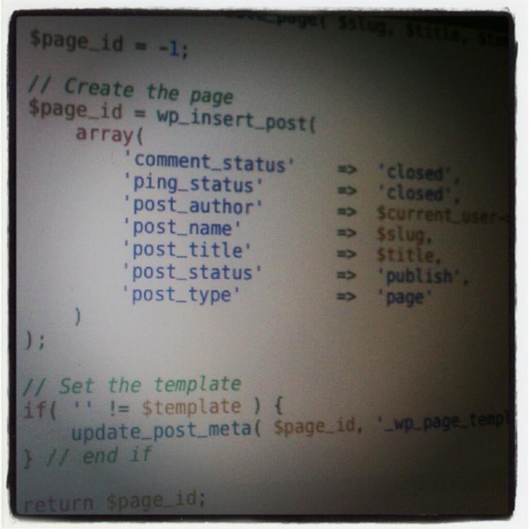 Create a Post in WordPress