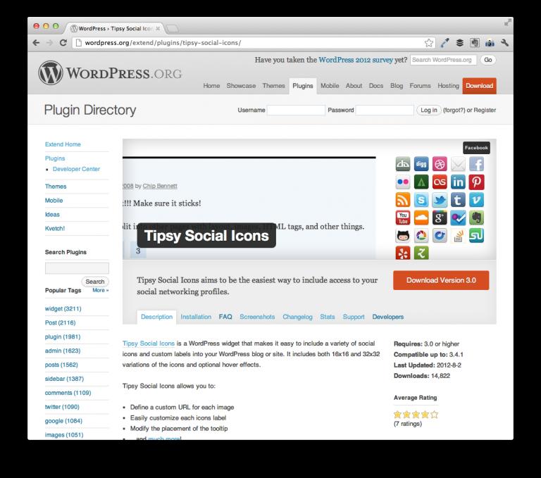 Tipsy Social Icons