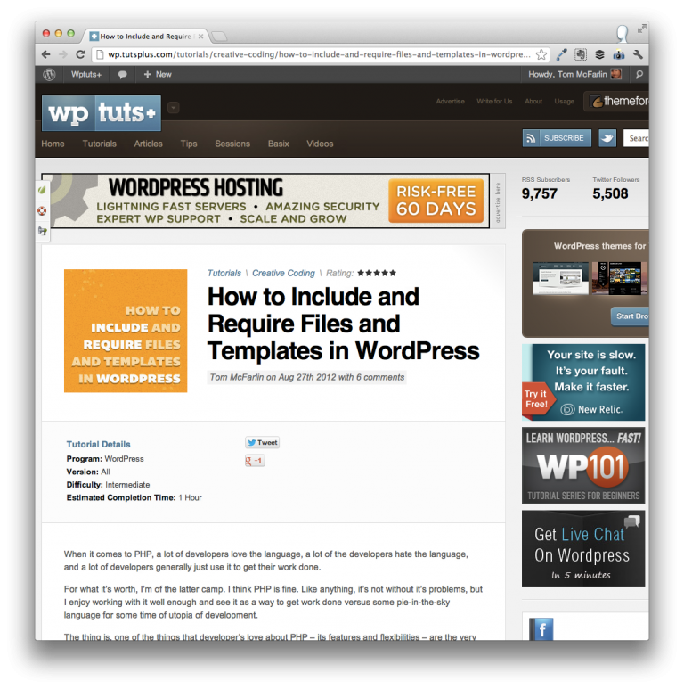 Include, Require, and Get_Template_Part in WordPress