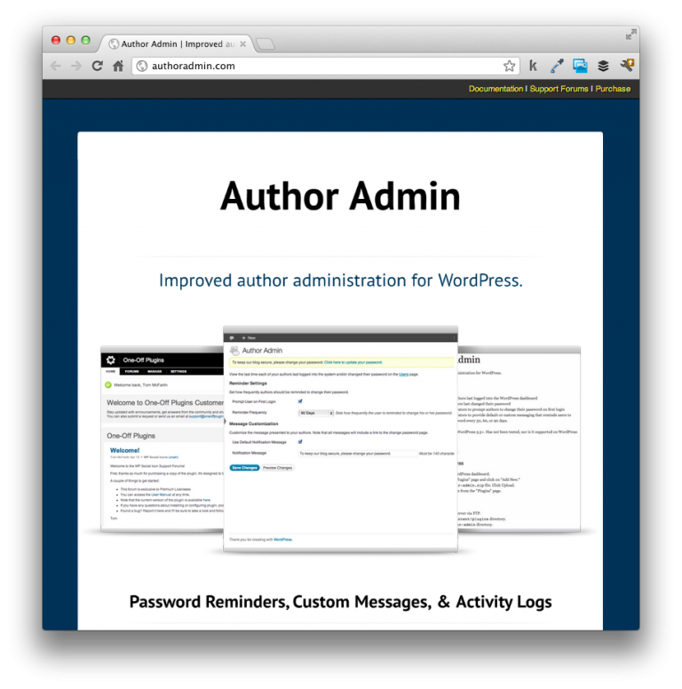Author Admin Homepage