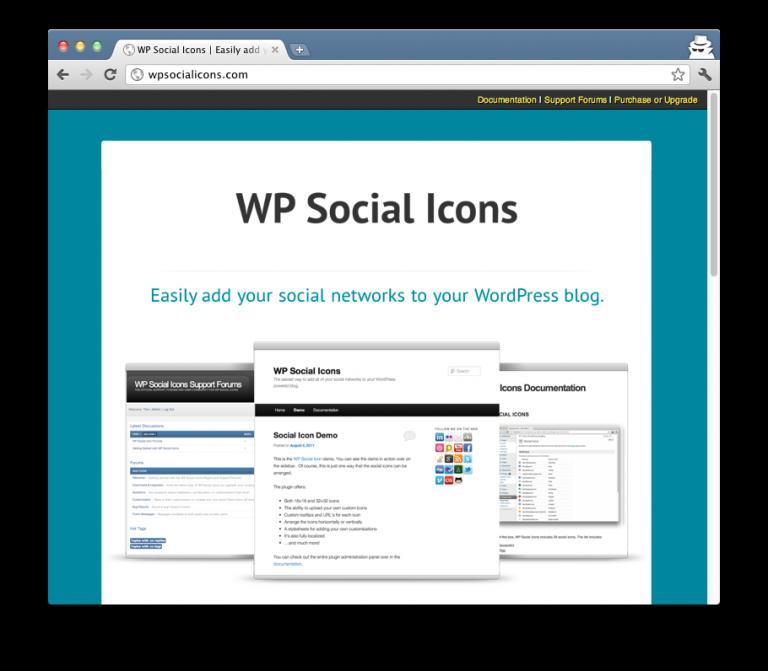 WP Social Icons