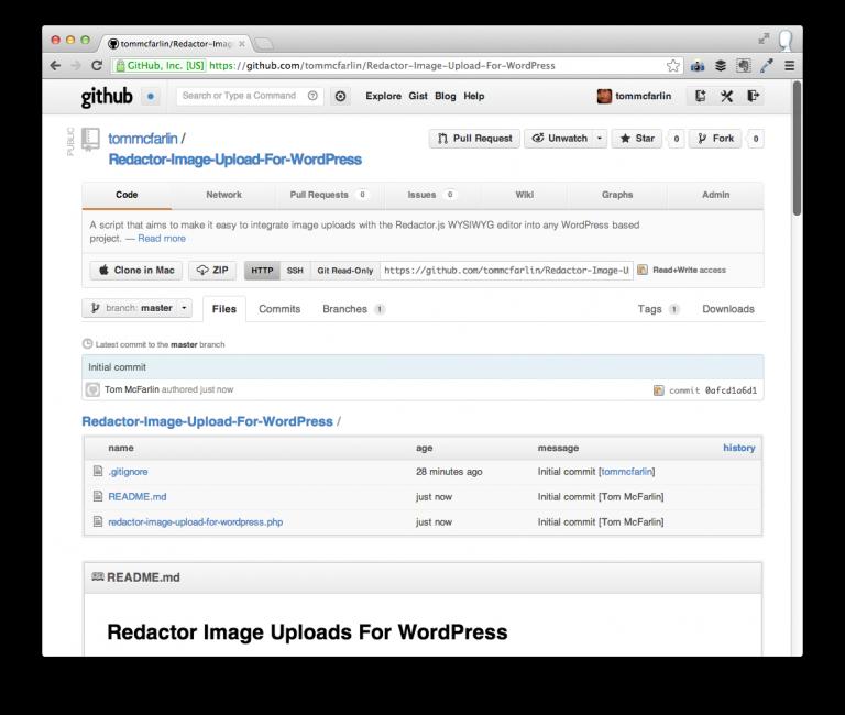 Redactor Image Upload For WordPress