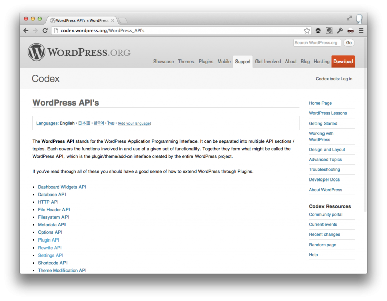 Building Web Applications with WordPress - Clean API
