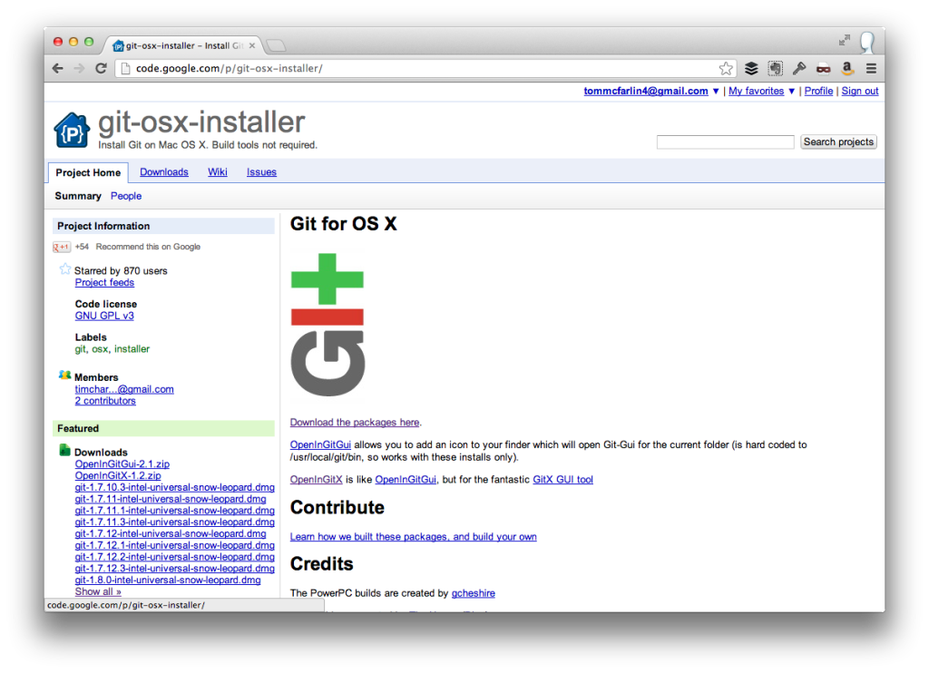 Install Git on Mac OS X For The Command Line – Tom McFarlin | Tom