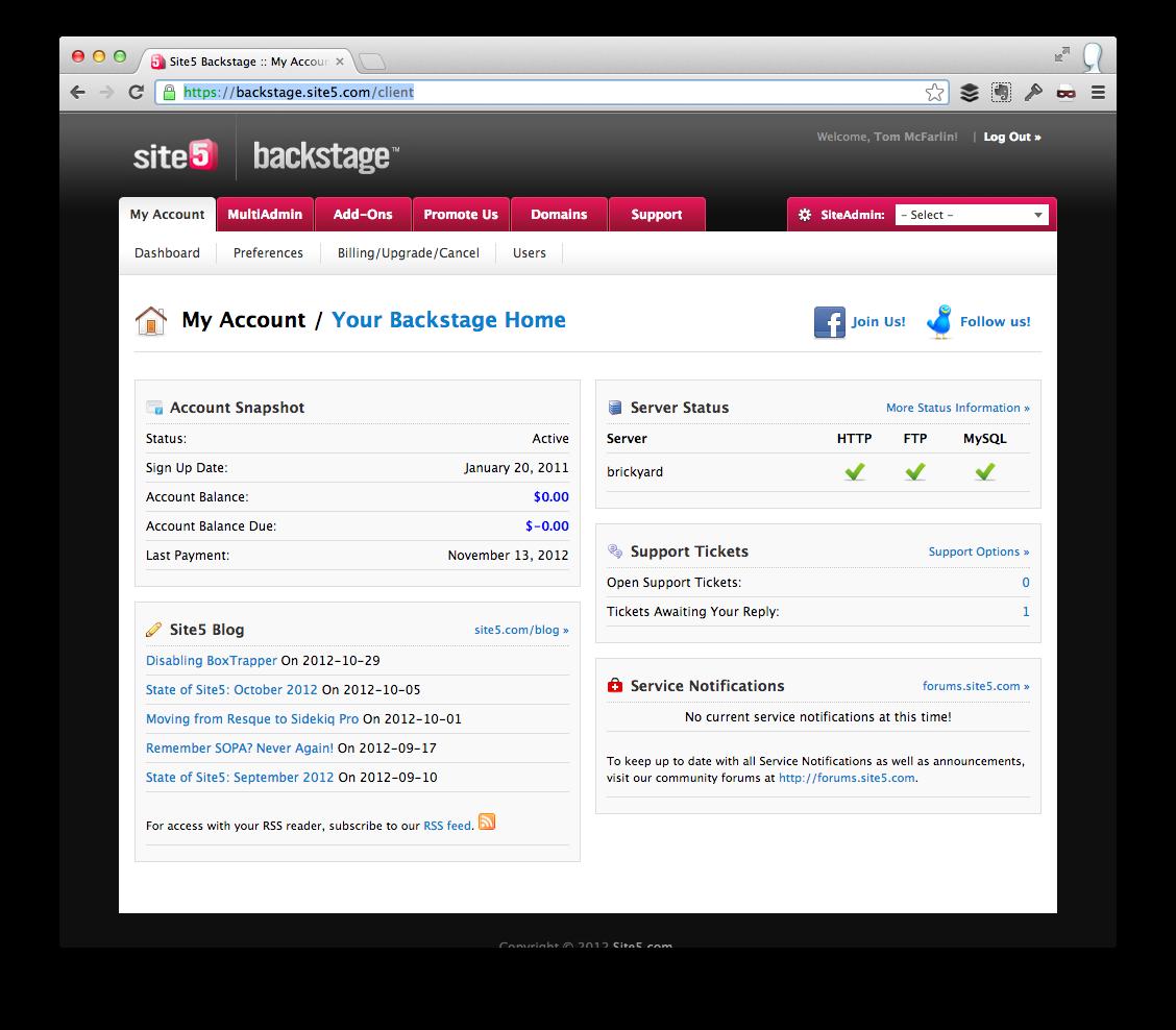 Preferred WordPress Hosting - Backstage