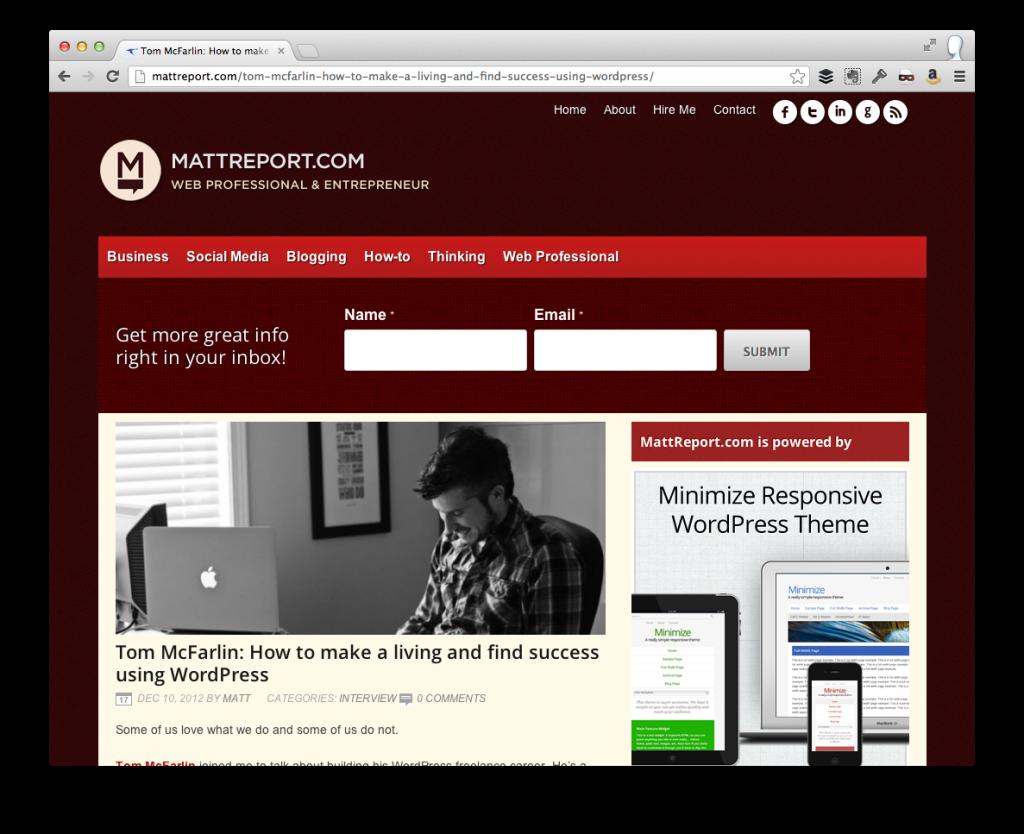 Make a Living Using WordPress