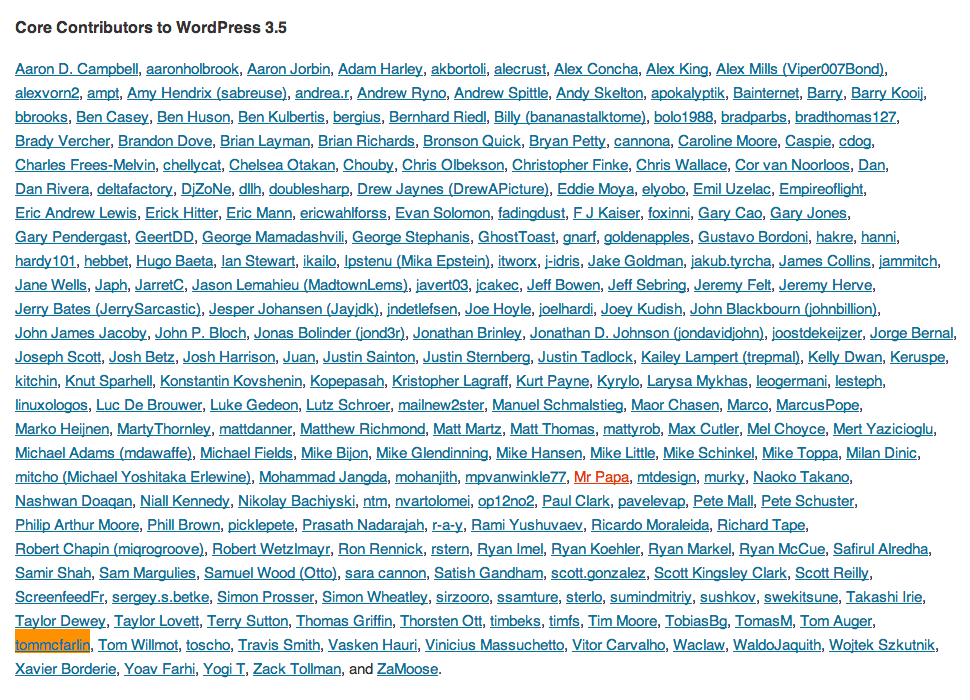 Contributing To WordPress 3.5