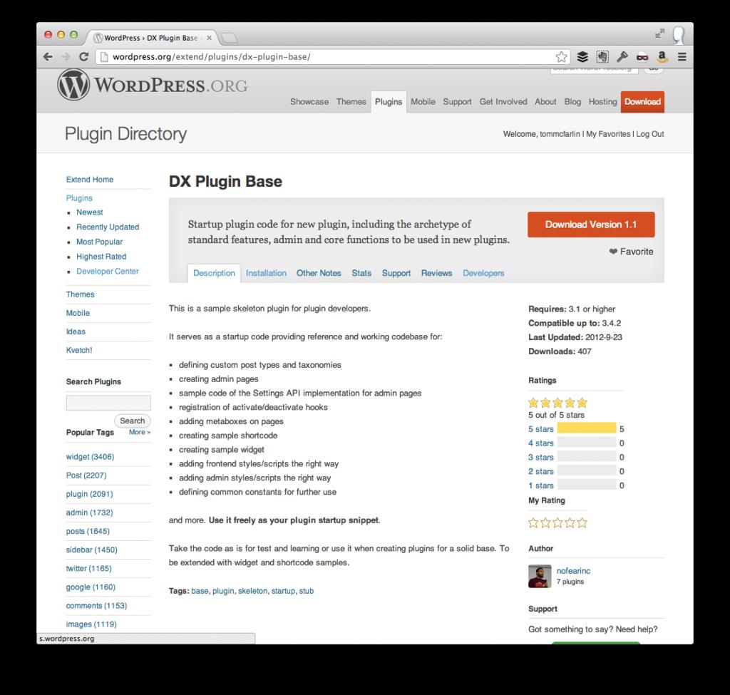 A WordPress Plugin Base | Tom McFarlin