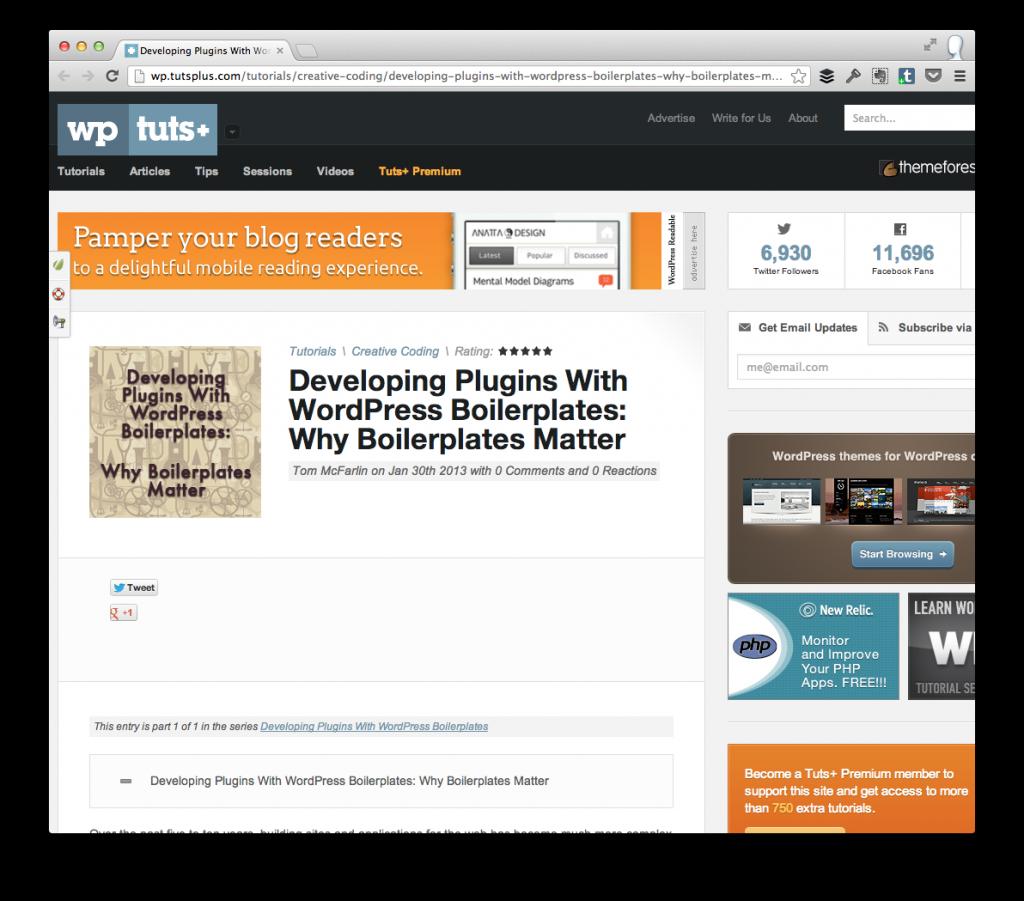 Why WordPress Boilerplates Matter