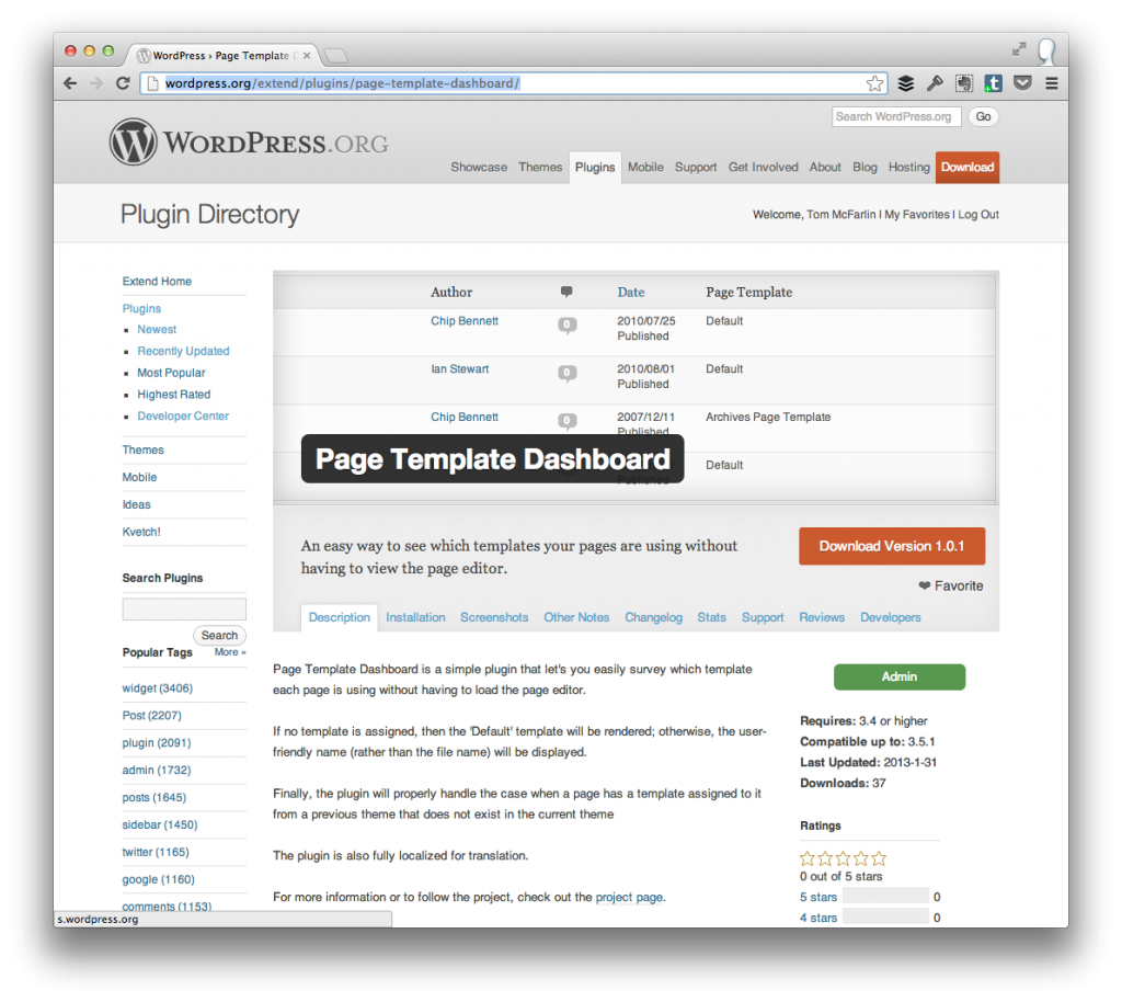 view page templates in the wordpress dashboard tom mcfarlin With if page template wordpress
