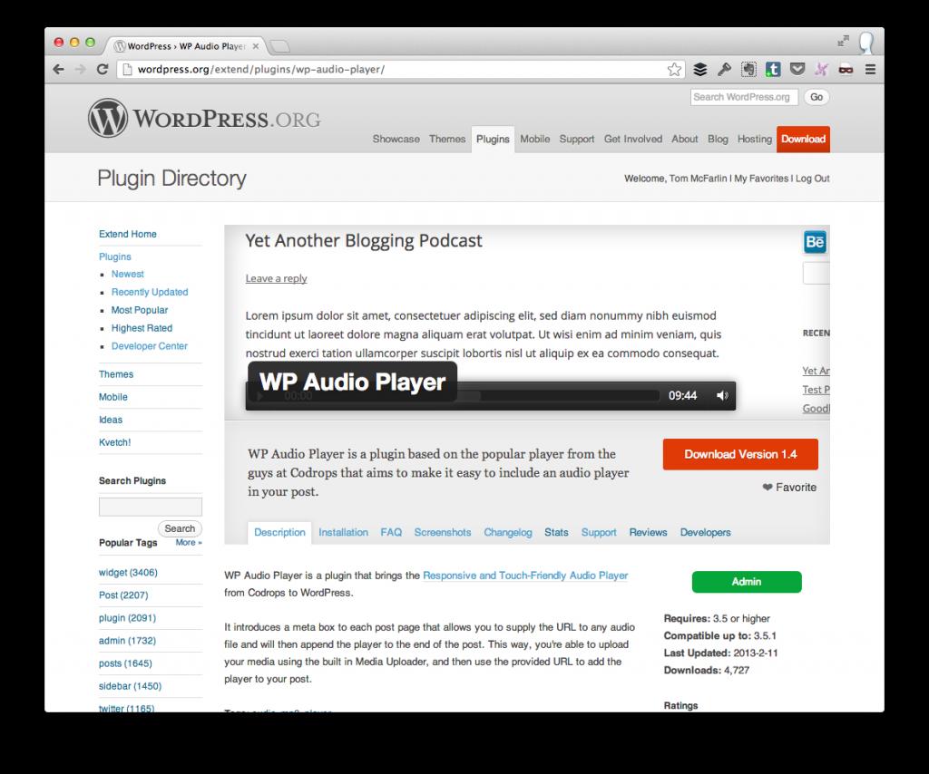 WP Audio Player