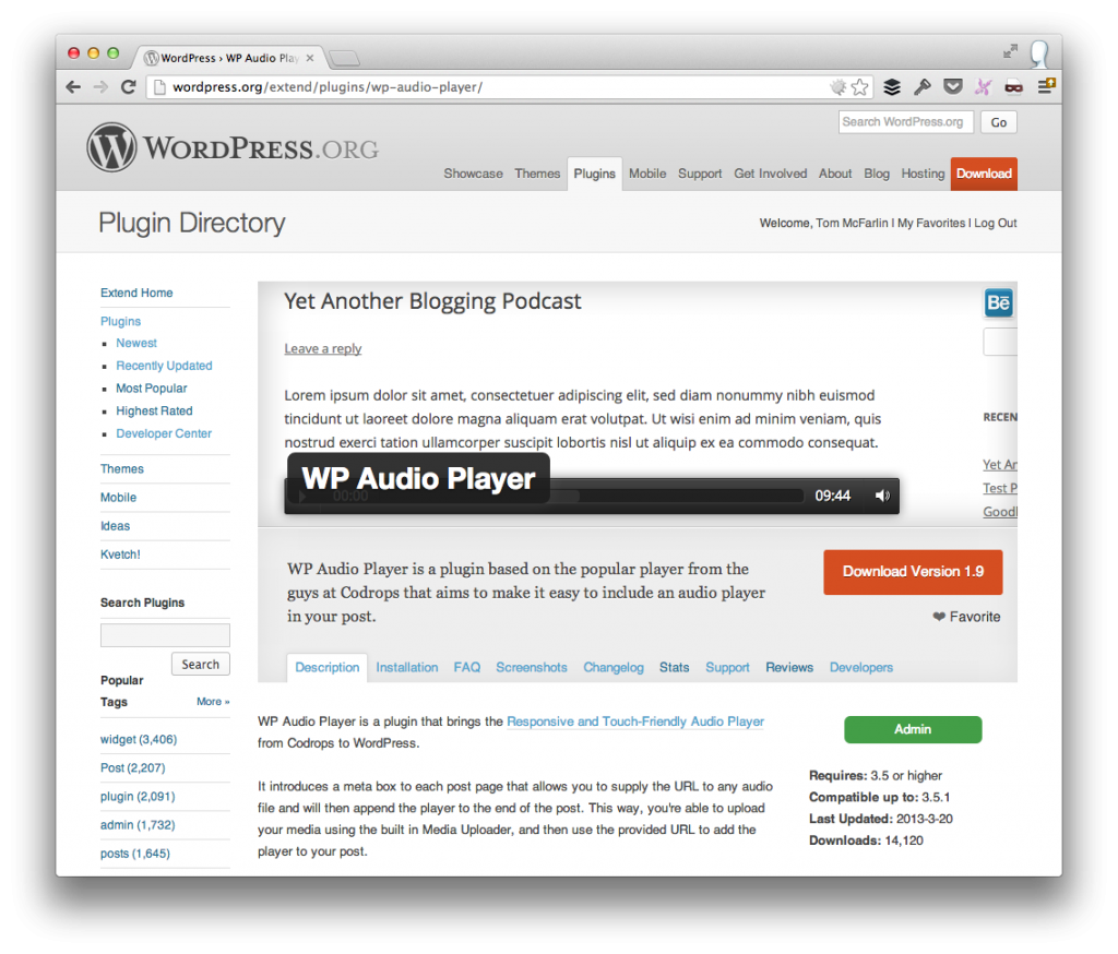 WordPress Plugin Repository Homepage