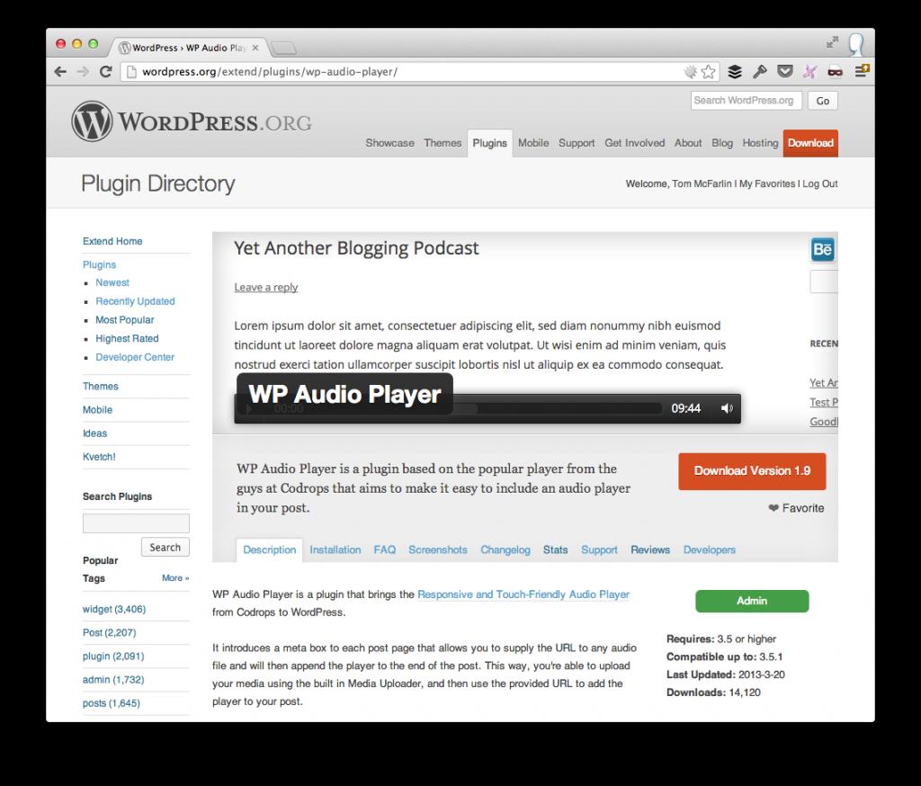 WordPress Plugin Repository Homepage