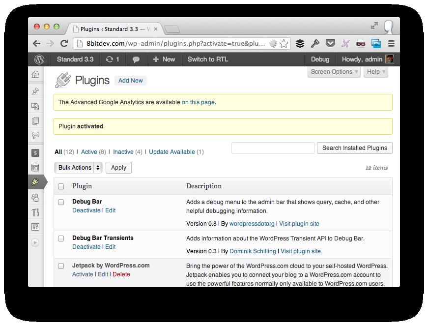 Plugin Activation Message