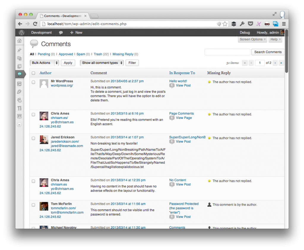 WordPress Comment Reply Plugin