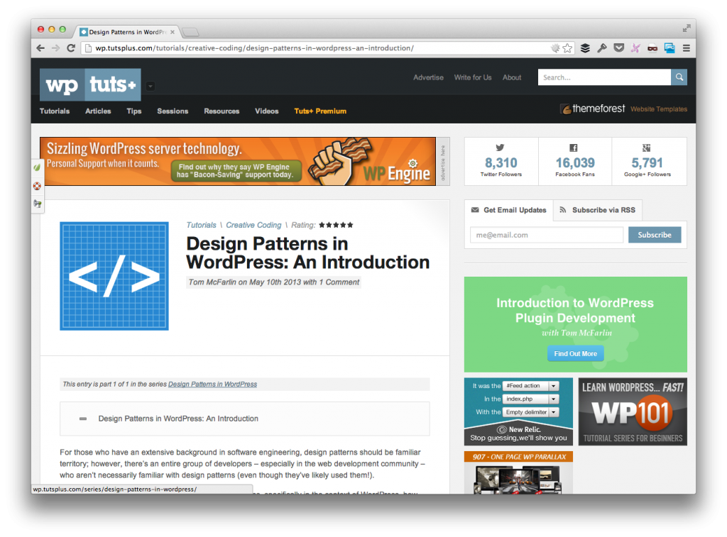 Design Patterns in WordPress