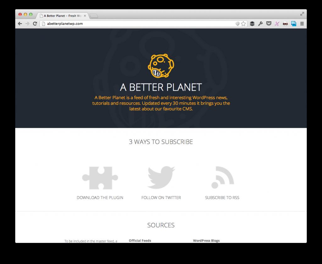 A Better WordPress Planet