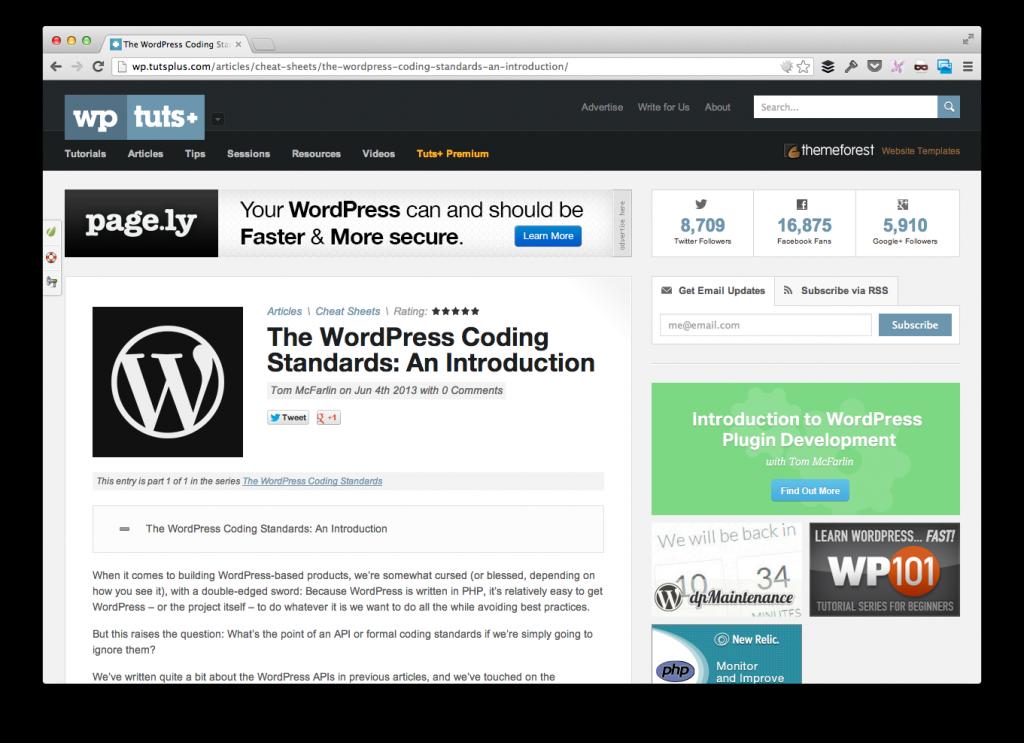 WordPress PHP Coding Standards