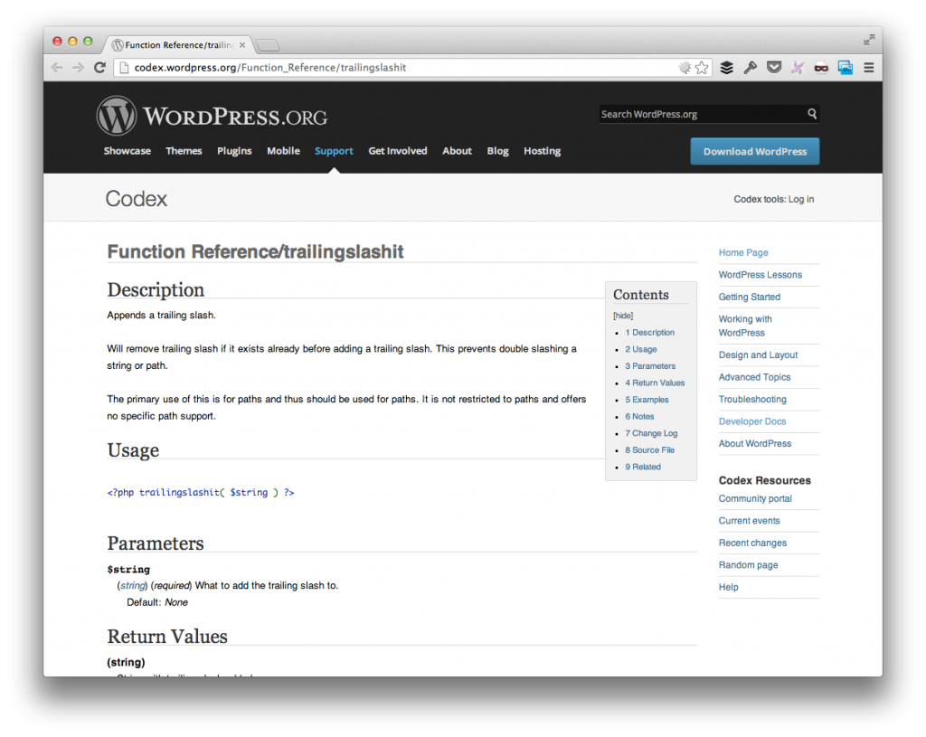 trailingslash it in WordPress