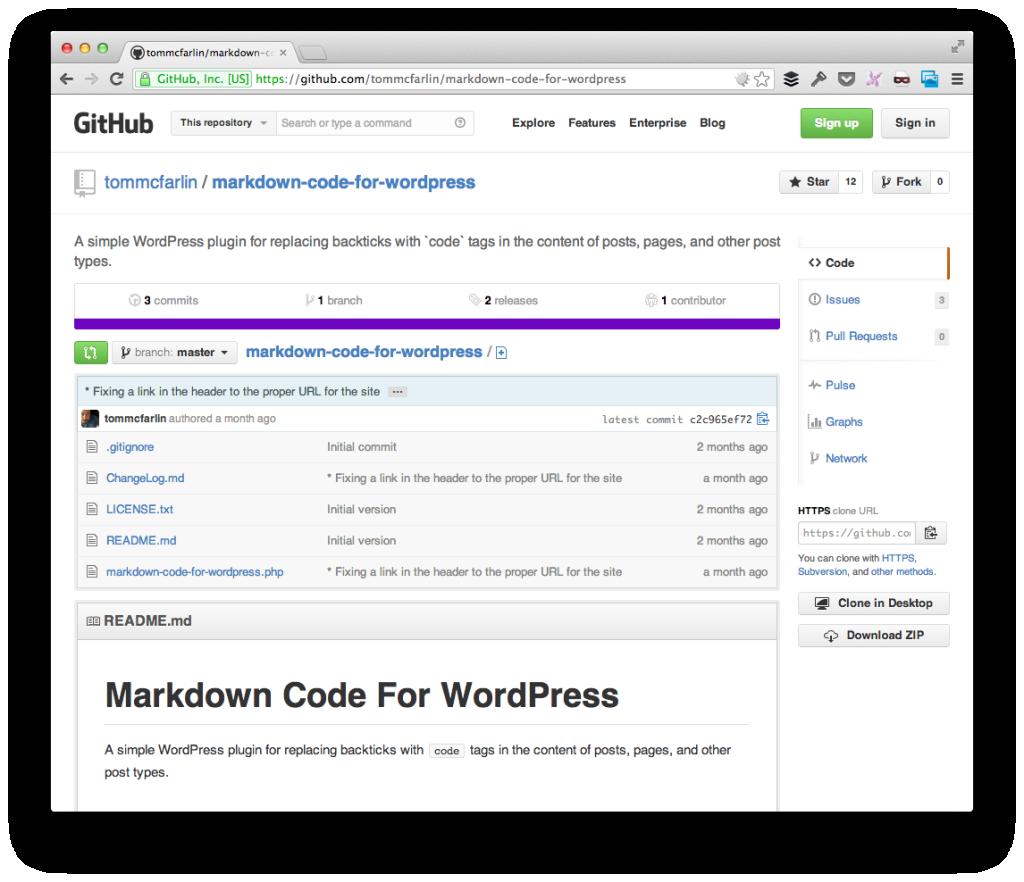 Markdown Code For WordPress