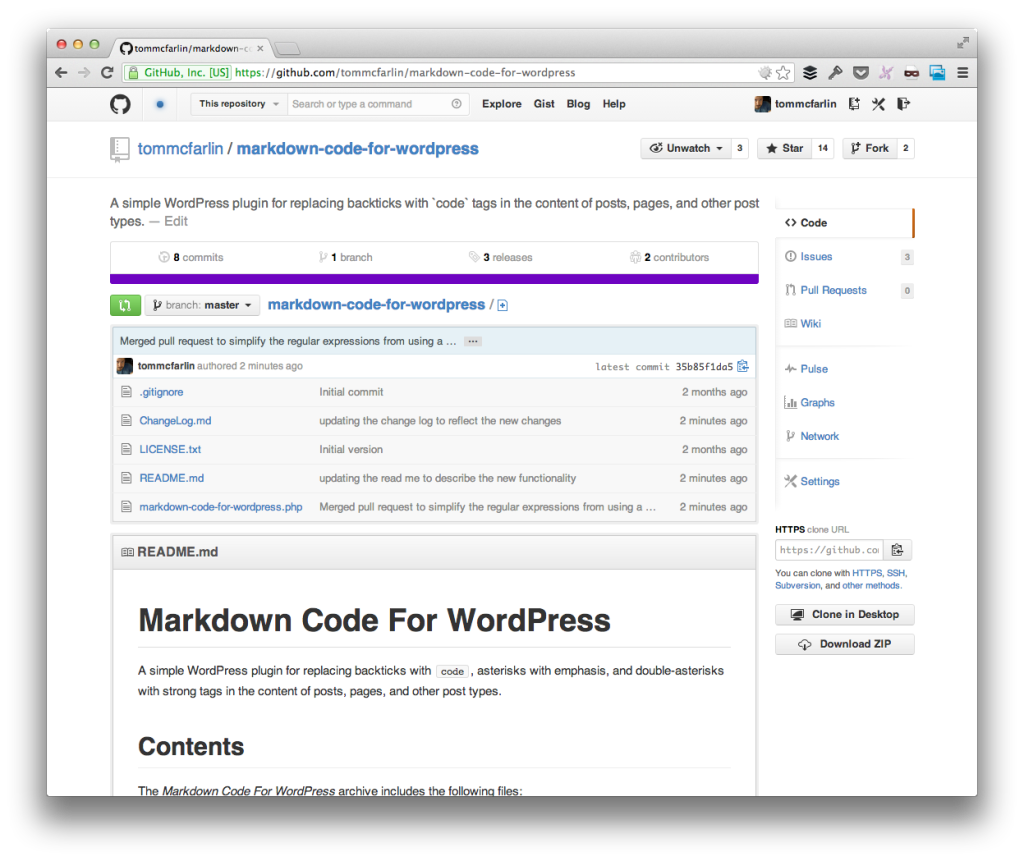 Markdown Code For WordPress