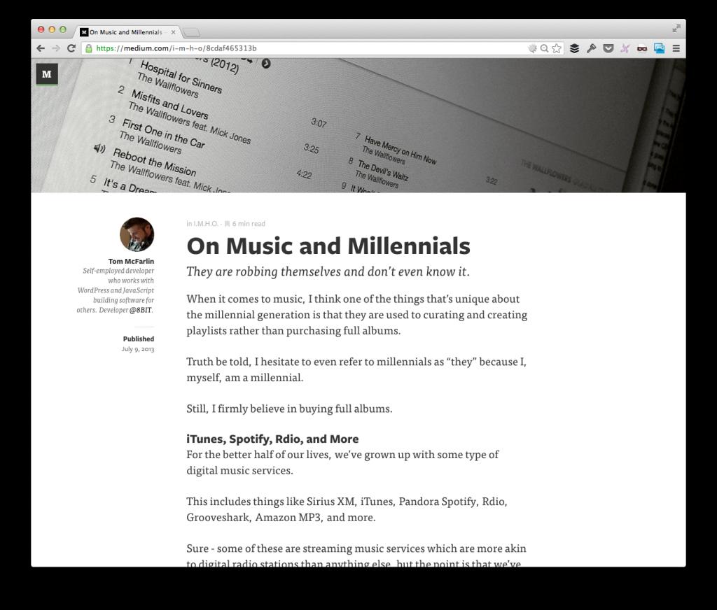 Music and Millennials