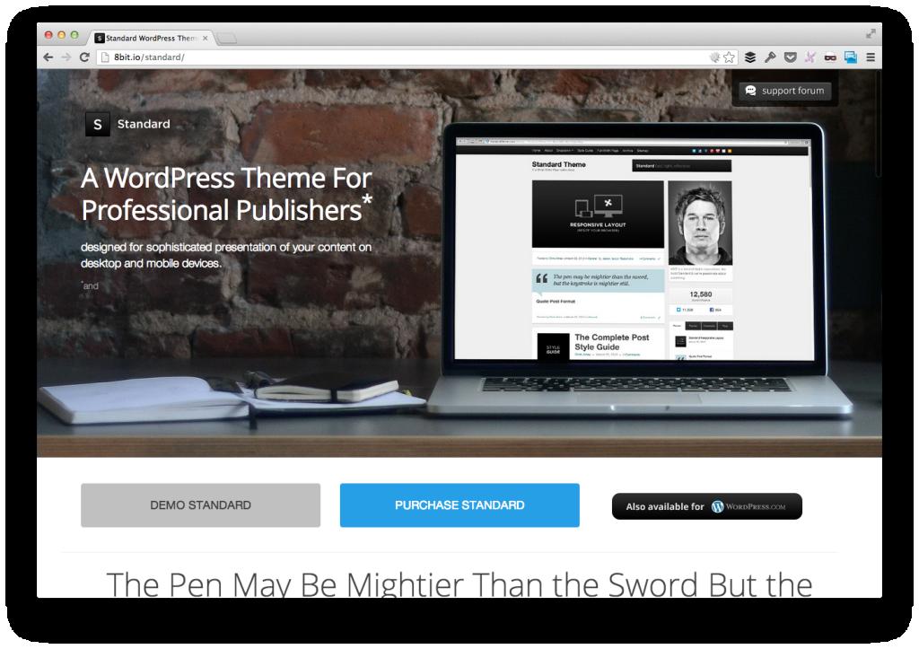 Standard For WordPress