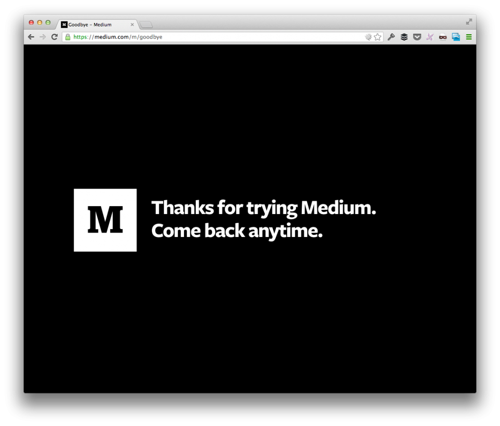 Goodbye Medium