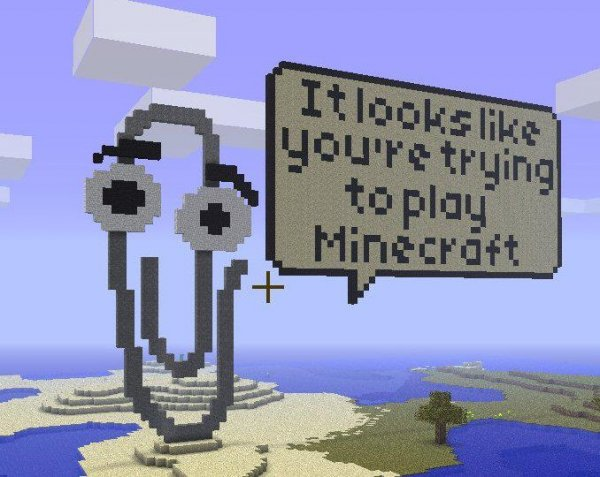 Clippy in Minecraft