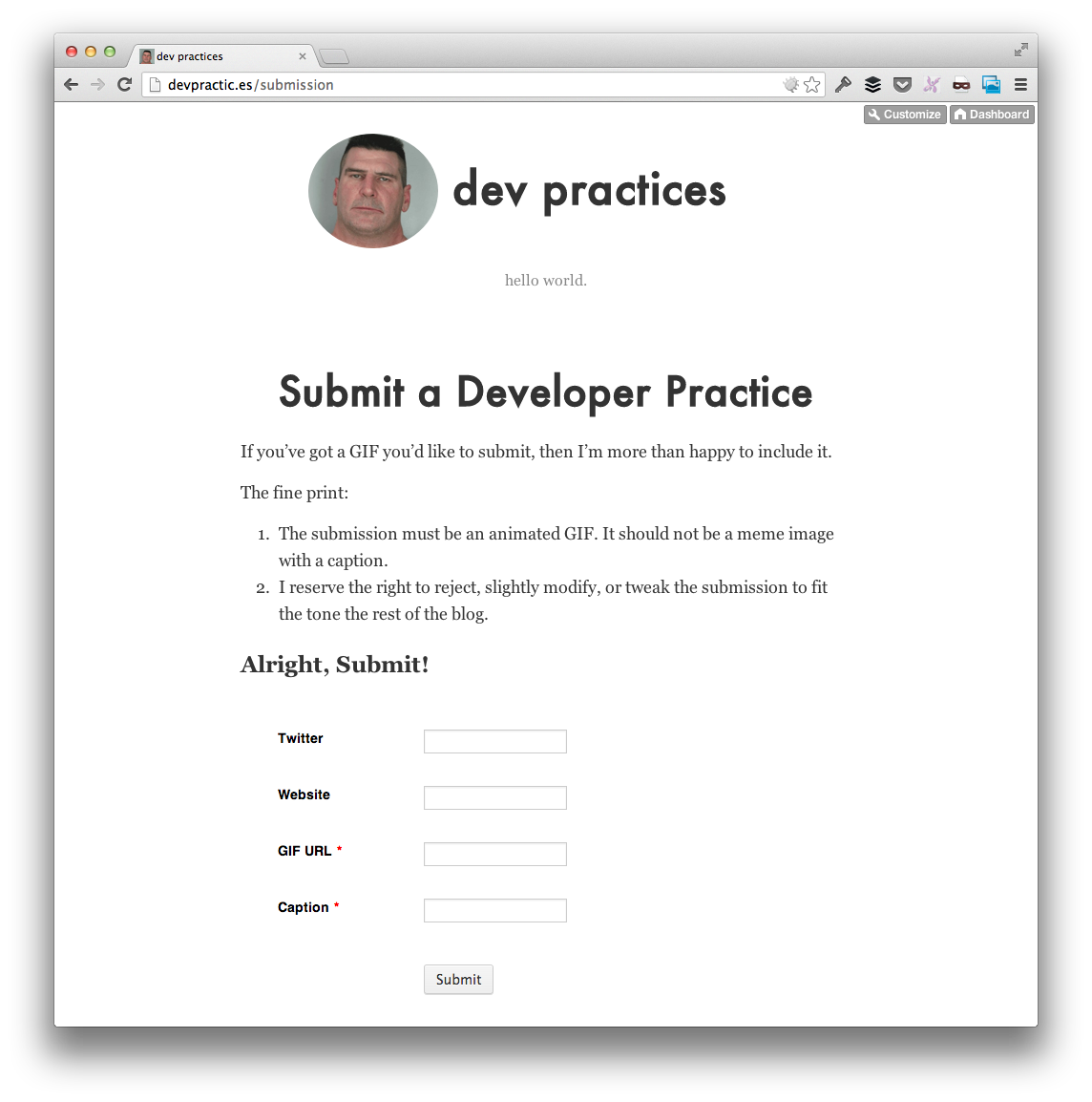 Dev Practices Submit
