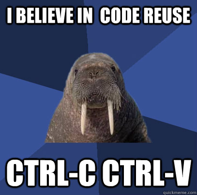 Code Reuse: Not Exactly Right
