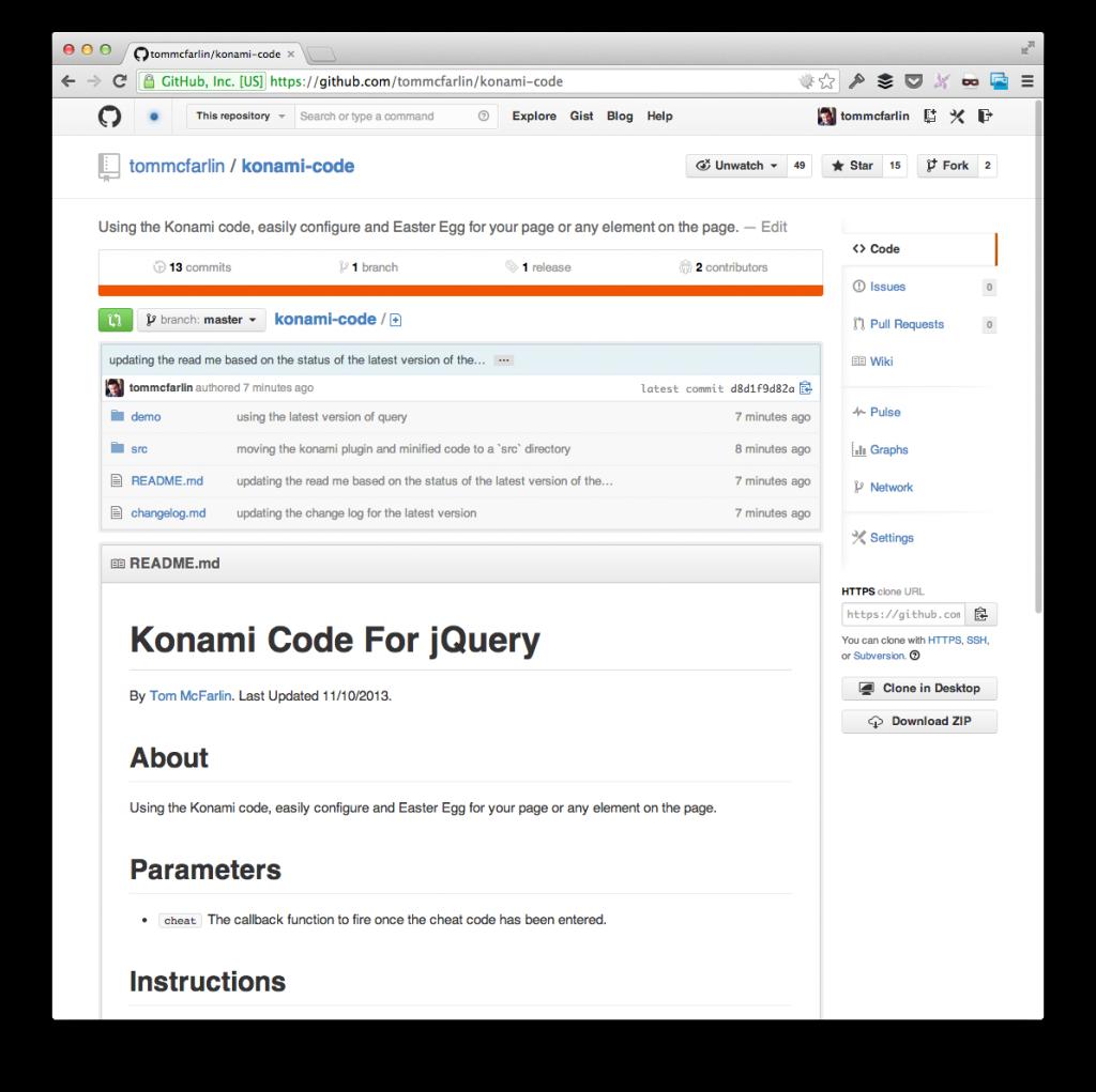 jQuery Konami Code 1.2.0