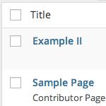 WordPress Page Template Info
