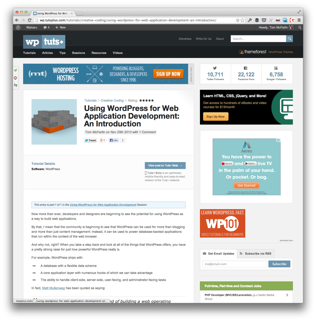 WordPress For Web Application Development