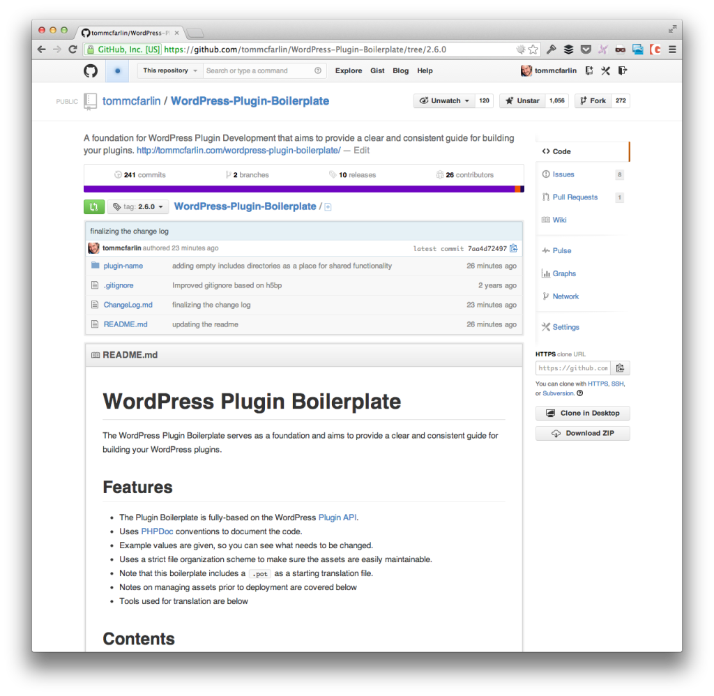 The WordPress Plugin Boilerplate 2.6.0