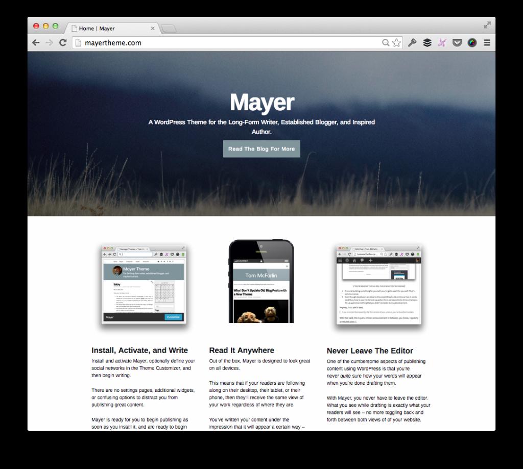 Mayer Landing Page