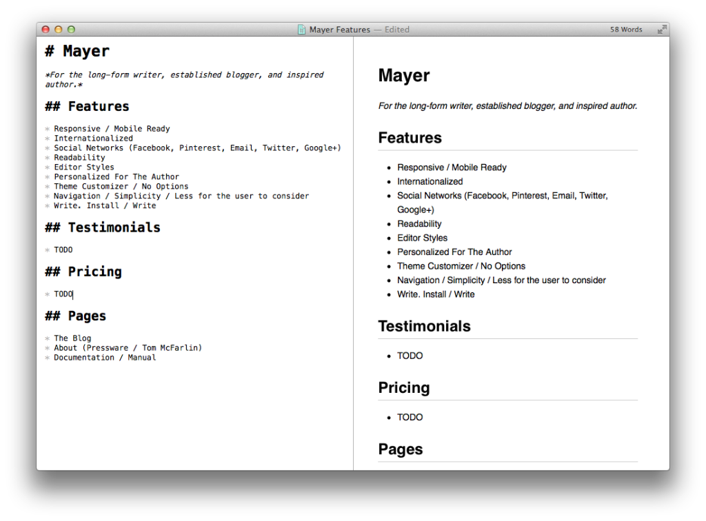 Notes for Mayer in Markdown