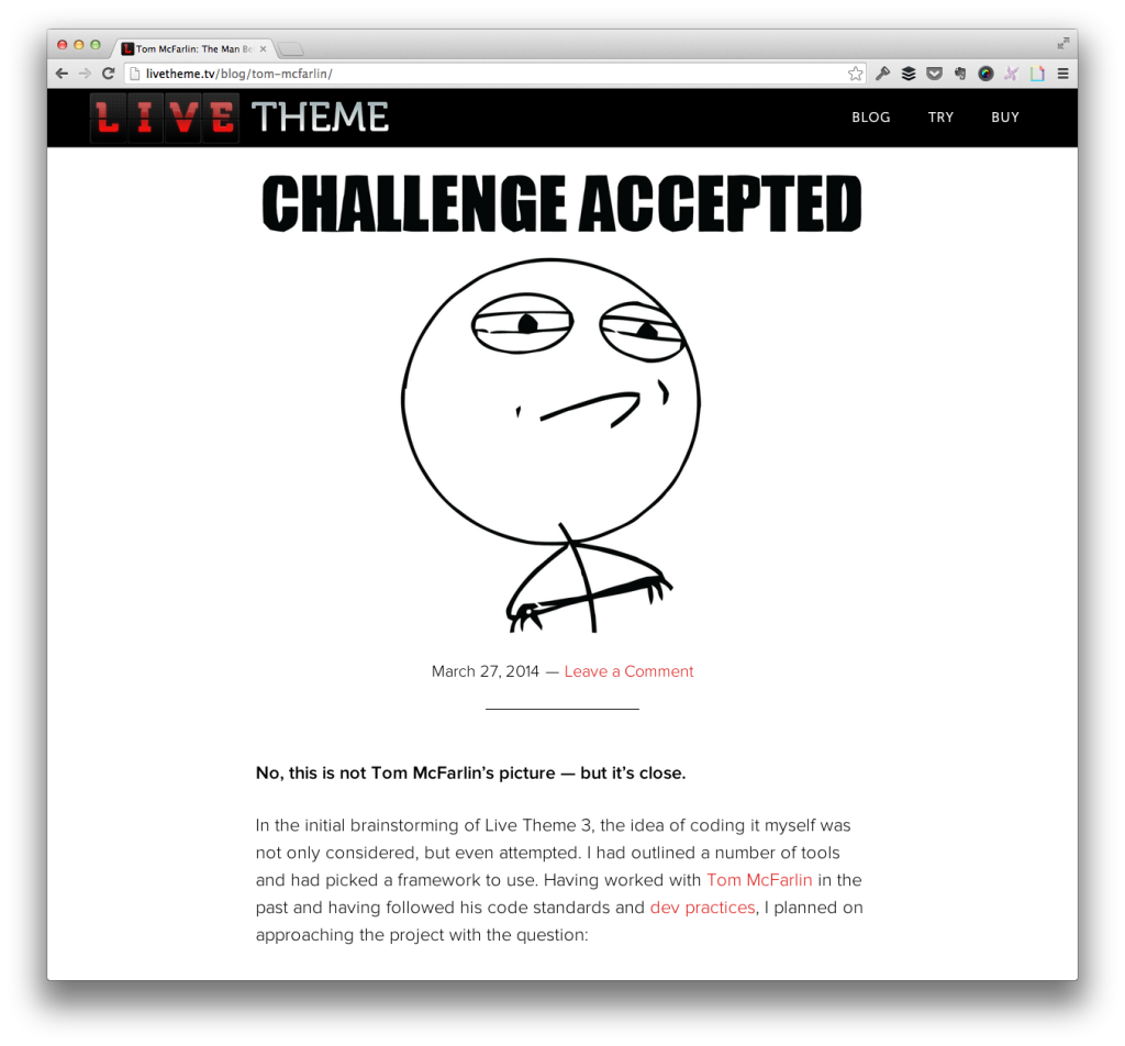 Live Theme For WordPress