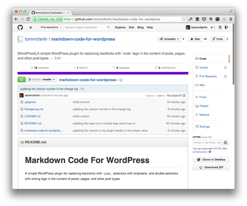 Markdown Code For WordPress 0.5.1