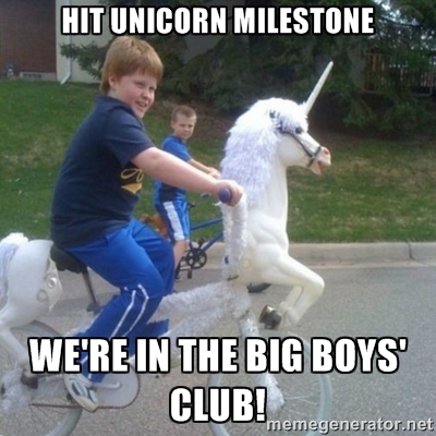Aim for that unicorn milestone!