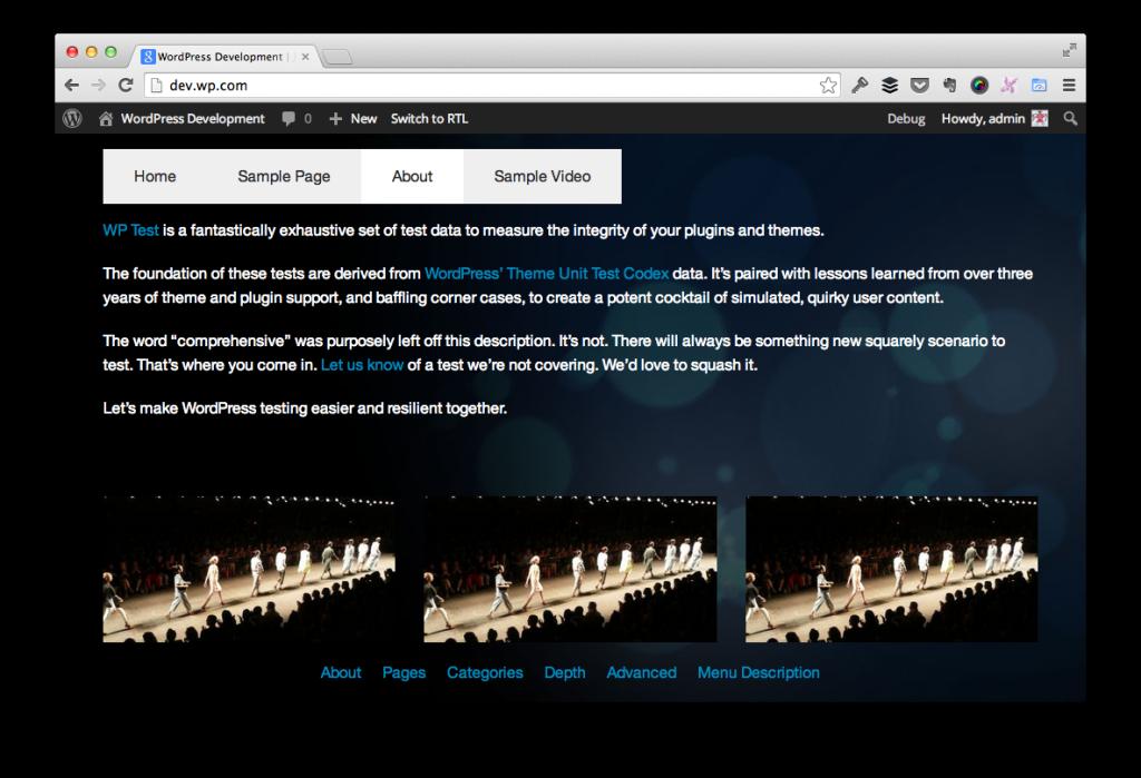 Tabbed Navigation in WordPress