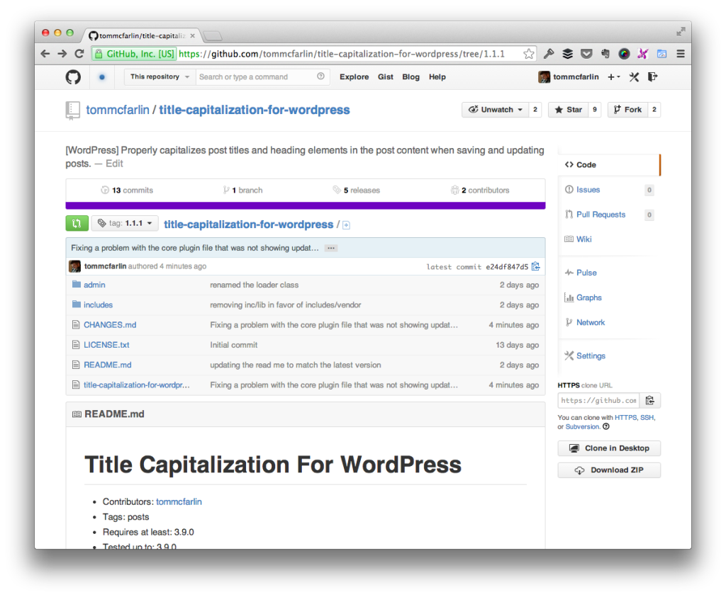 Title Capitalization for WordPress 1.1.1