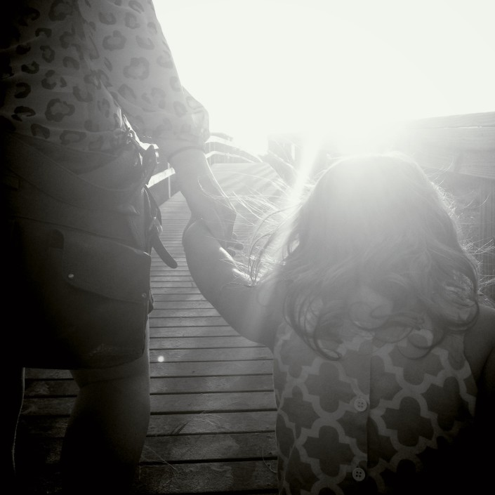 My wife and oldest daughter on the boardwalk.