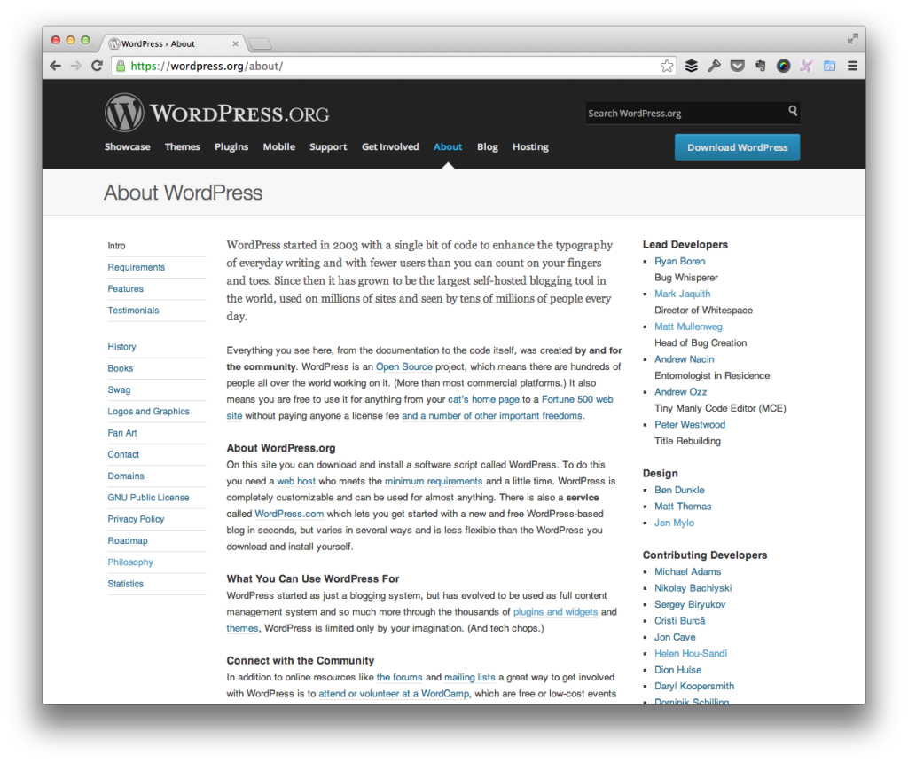 About WordPress.org