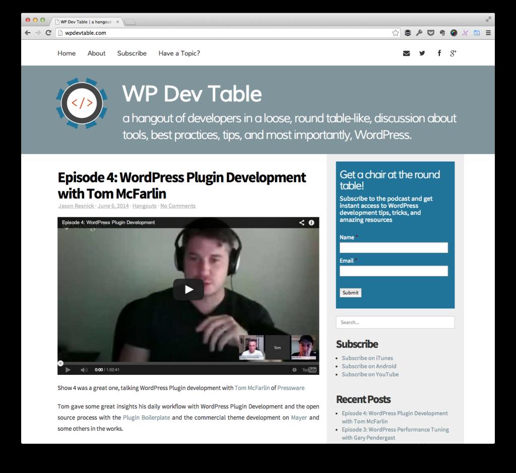 WP Dev Table